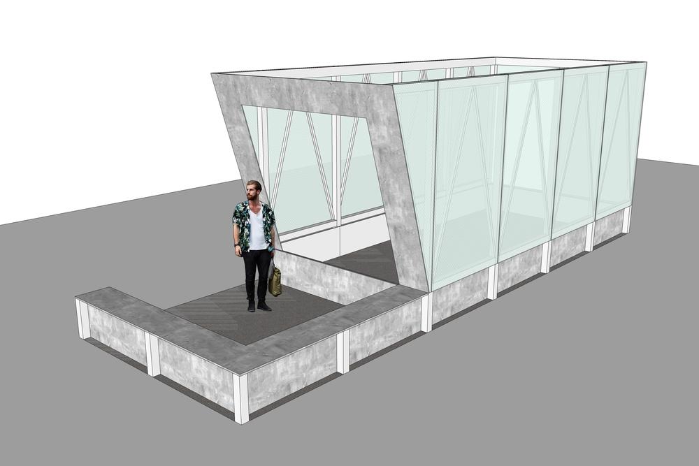 Modelling for Cave Pavilion Sophie Walker RHS Chelsea