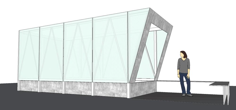 Modelling Cave Pavilion RHS Chelsea Sophie Walker