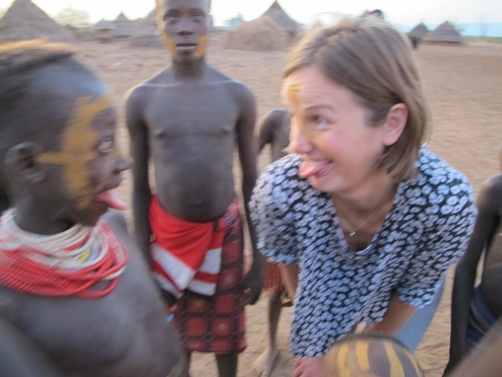 With the Kara tribe of Dus Village, Omo Valley Ethiopia