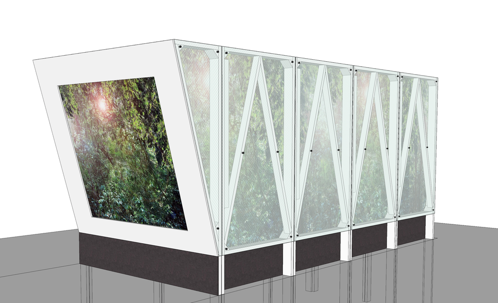 Cave Pavilion rendered image, Sophie Walker RHS Chelsea Flower Show 2014