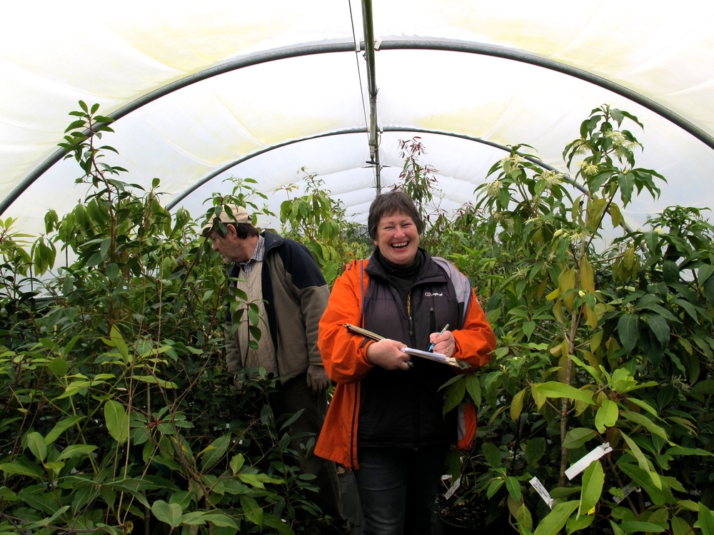 Sue and Bleddyn with the plant list for Cave Pavilion RHS Chelsea