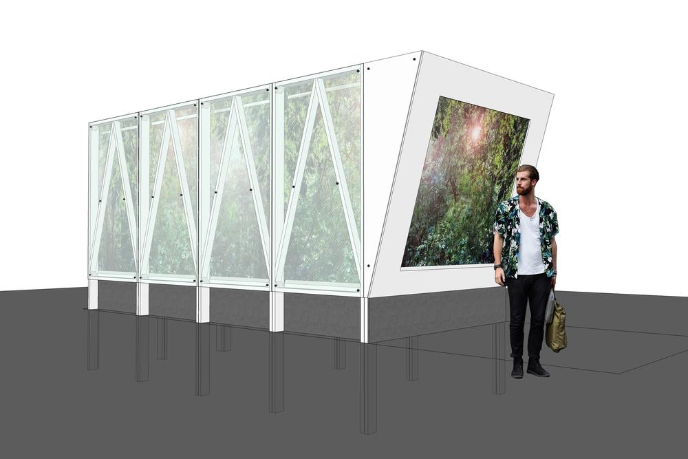 Modelling Cave Pavilion, RHS Chelsea Sophie Walker