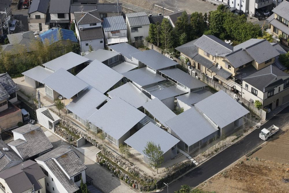 Overview of Kazuyo Sejima project Nishinoyama House, Kyoto