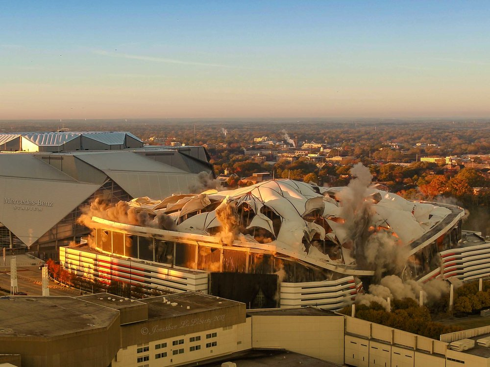 Georgia Dome Implosion Drone