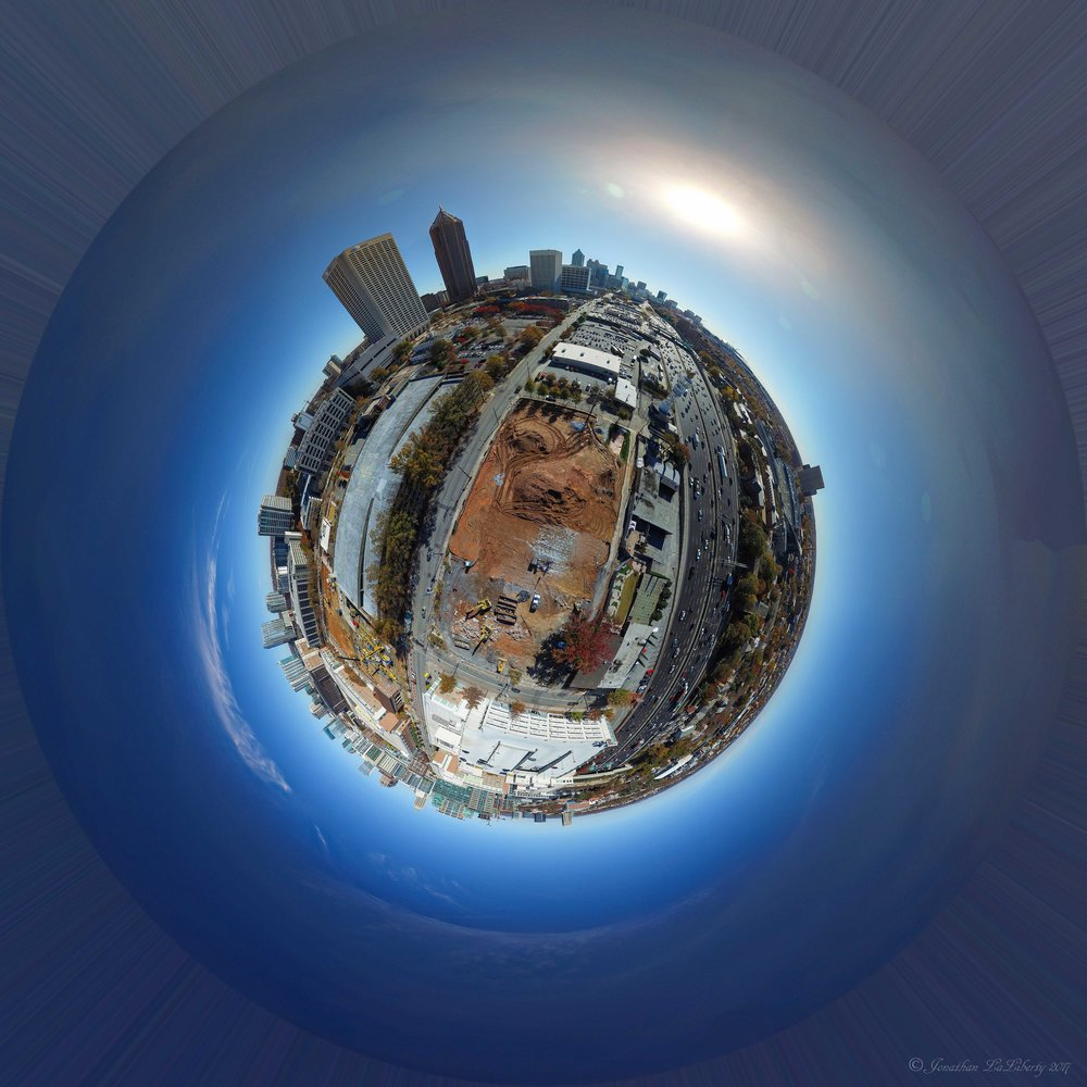 Atlanta Drone Photography Tiny Planet