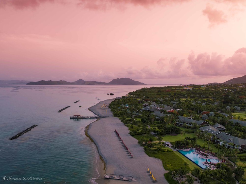 Four Seasons Nevis West Indies Drone Photography