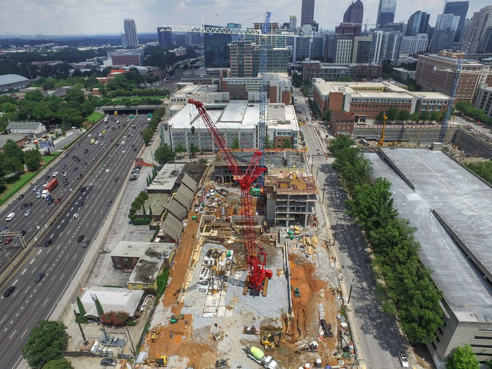Atlanta Drone Photography Construction Progress