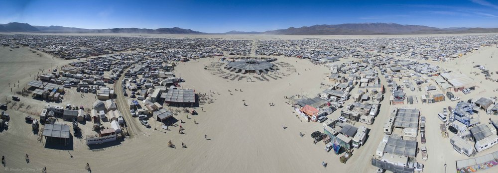 Burning Man Panorama Drone Photography 2016 Black Rock City