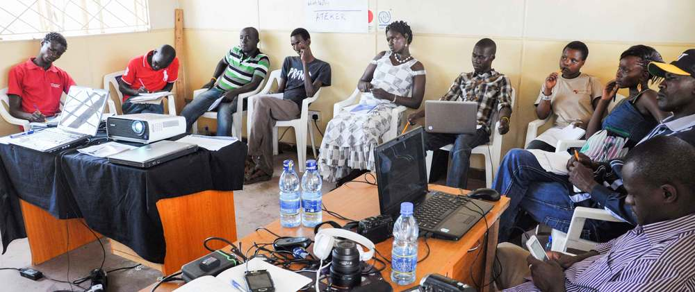 Mentoring and training workshop; Ata Nayeche FM. Kakuma Turkana County