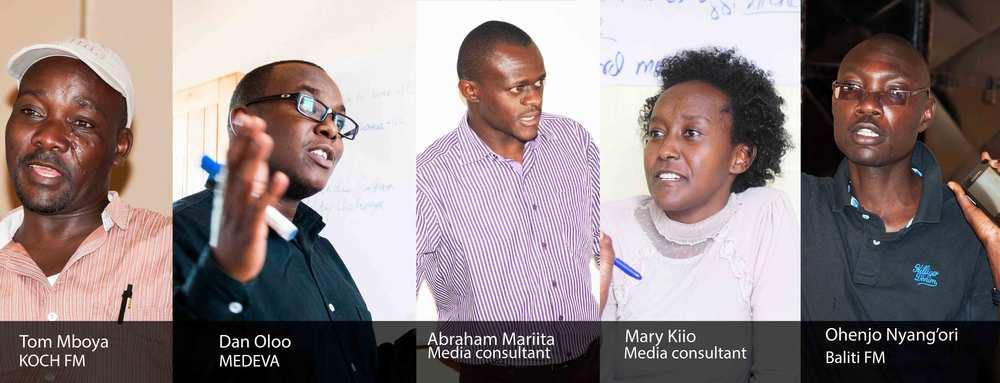 Community Radio Mentors and trainers- KCOMNET-HIVOS Project
