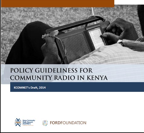 Policy guidelines for community radio in Kenya - KCOMNET's draft 2014.png