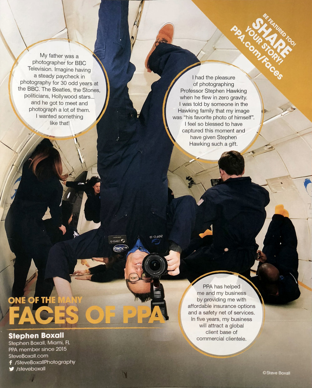 Steve Boxall - Faces of PPA Tearsheet