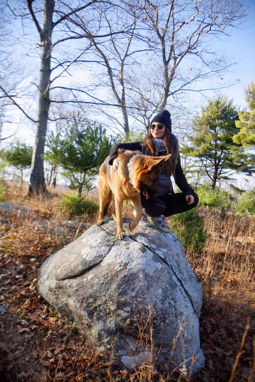 Me & MaQ in Harriman State Park, November 2015.
