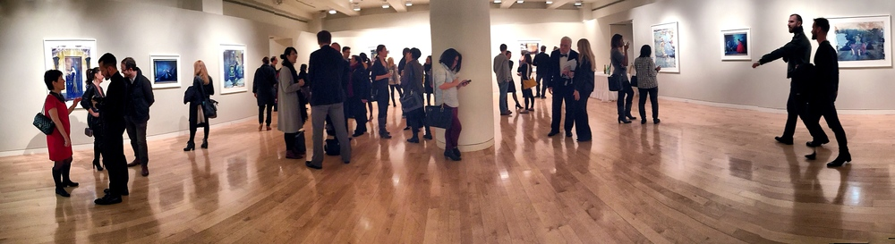 Opening reception with Cathleen Naundorf's photographs at Edwynn Houk Gallery.