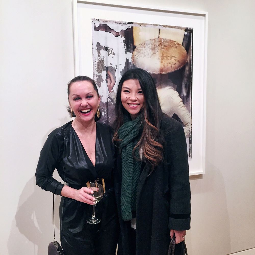 With the amazingly talented fashion photographer, Cathleen Naundorf at Edwynn Houk Gallery, New York City, NY.
