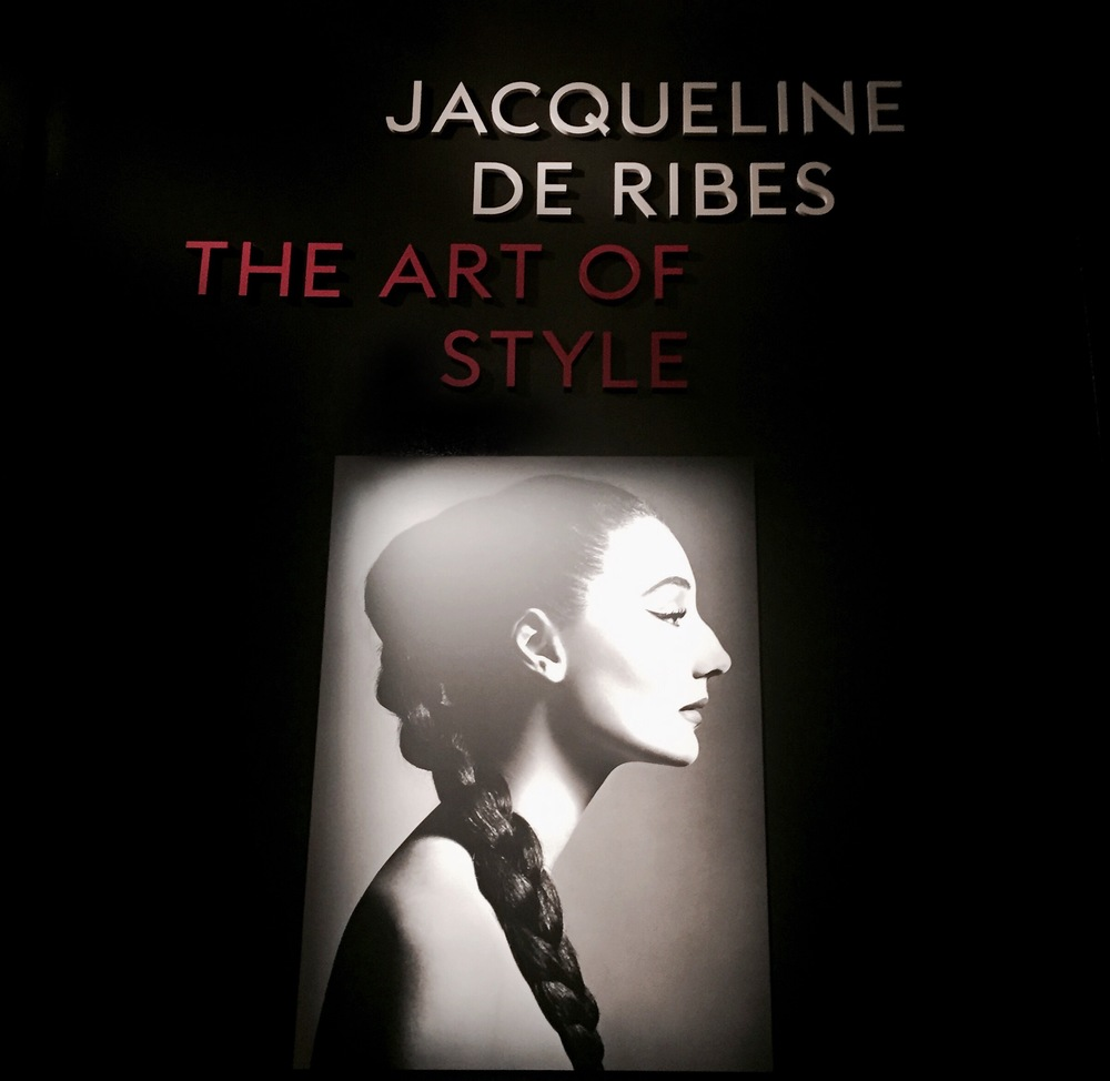 Entrance to the exhibition.  Jacqueline de Ribes , 1955 Photograph by Richard Avedon, © The Richard Avedon Foundation