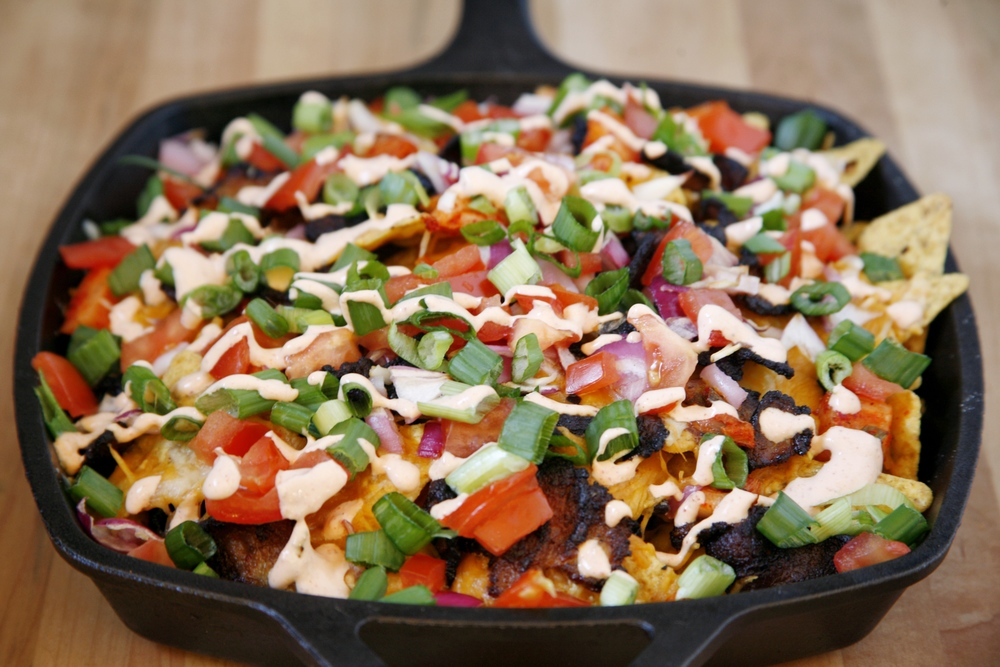 Korean-Style Pork Belly Nachos. All photos by © Suzanne Spiegoski