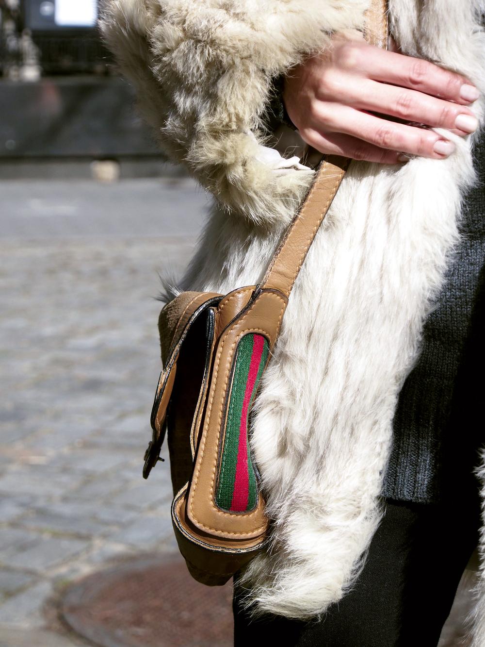Details: Silver fox fur & Gucci.