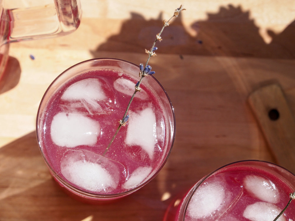 Korean Soju Lavender Lemonade Cocktail