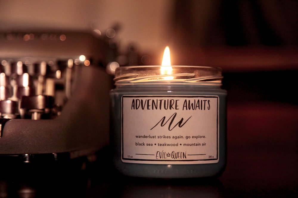 Candle by Shop Evil Queen, Adventure Awaits.