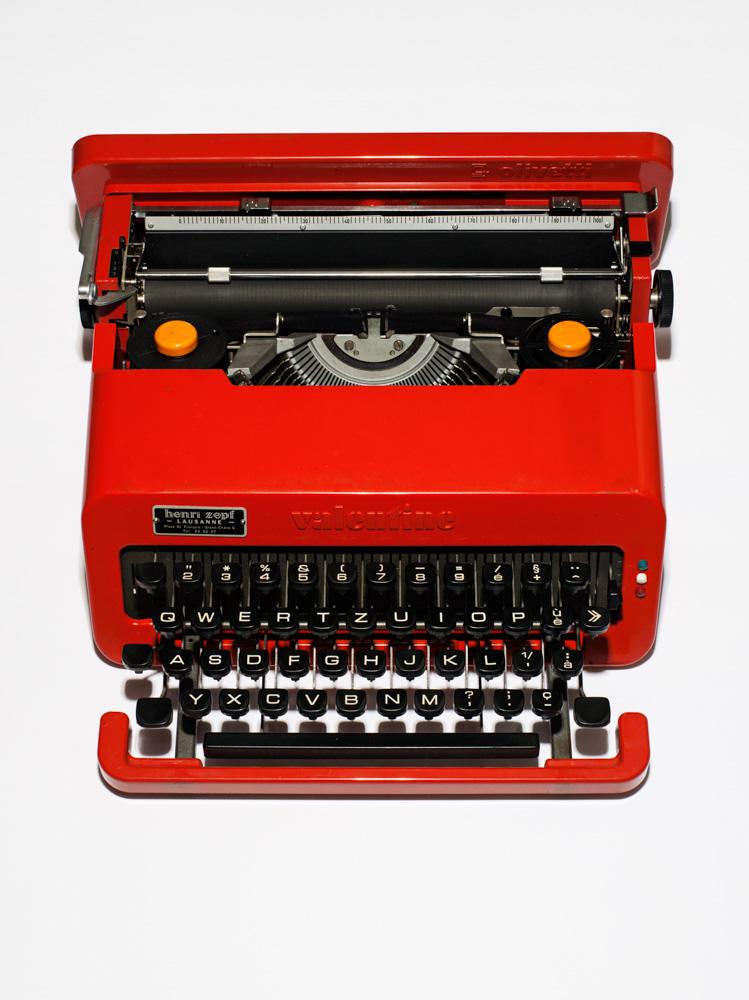 Audrey Hepburn's Valentine portable typewriter. (Photograph by Henry Leutwyler)