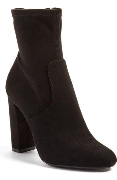 Steve Madden Black Ankle Boots