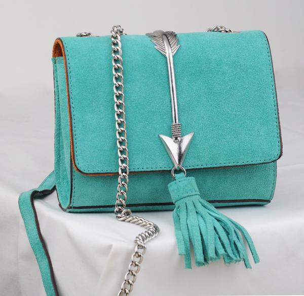 Most Wanted USA Tiffany Satchel – Turquoise
