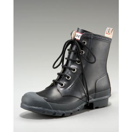 Hunter Lace-up Rain Boots Women