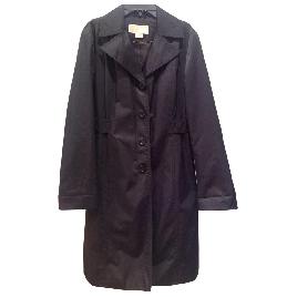 Michael Kors Black Cotton Trench Coat Ladies