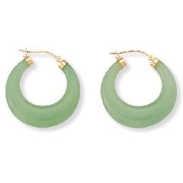 Vintage Jade Hoop Earrings