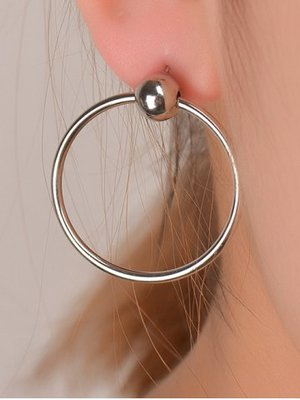 Rosegal Silver Bead Hoops