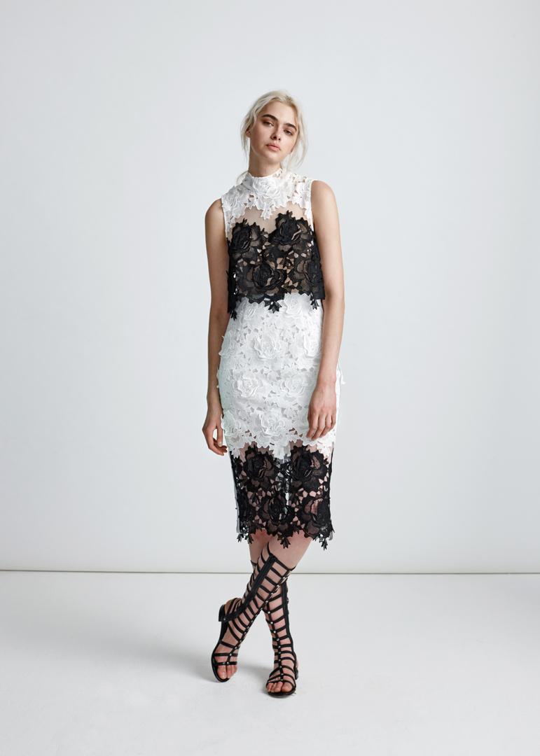 Echtego Black and White Lace Dress
