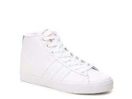 Women's adidas NEO Cloudfoam Daily QT High-Top Sneaker - White