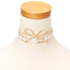 Claire's Satin Bow Choker