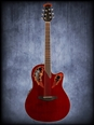 Ovation Celebrity Elite SuperShallow Acoustic Electric Ruby Red