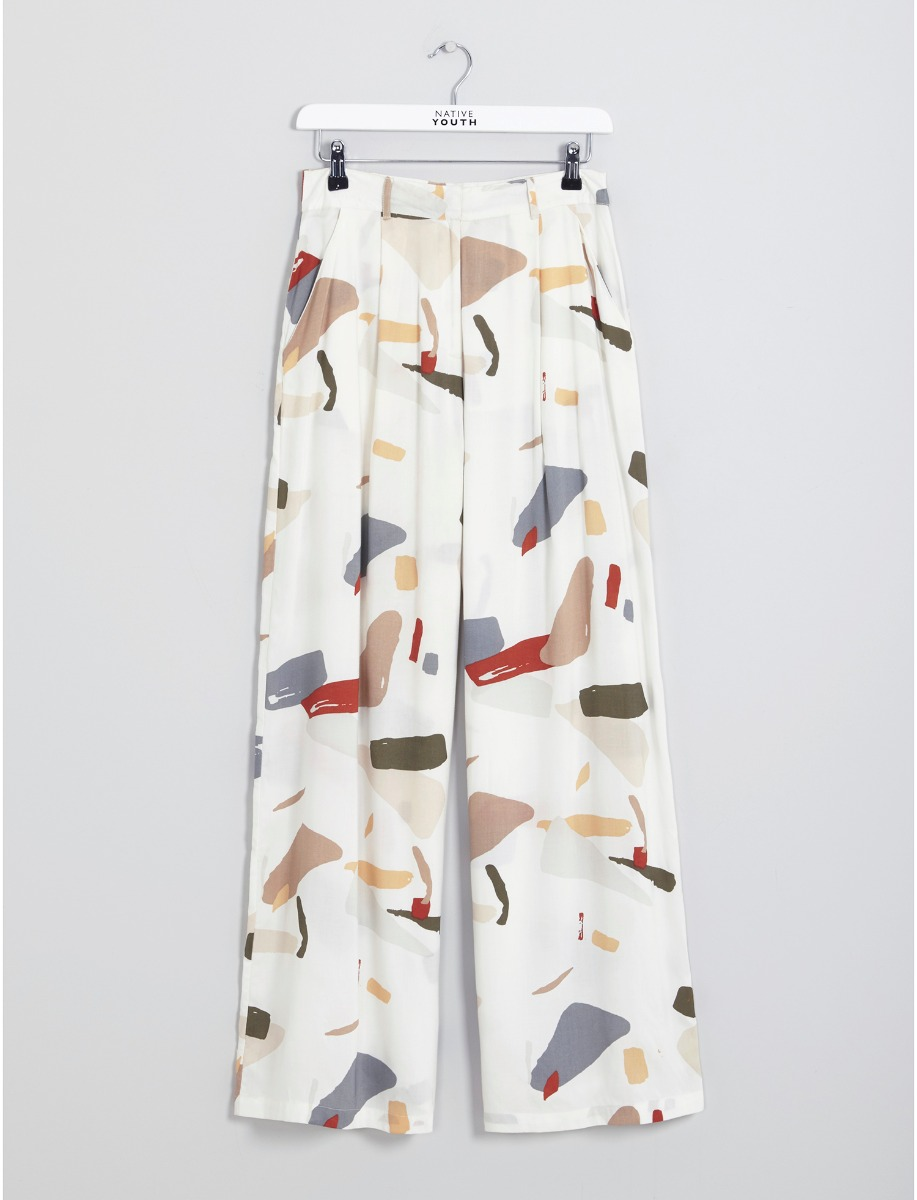 Native Youth Organic Displacement Wide Leg Pants