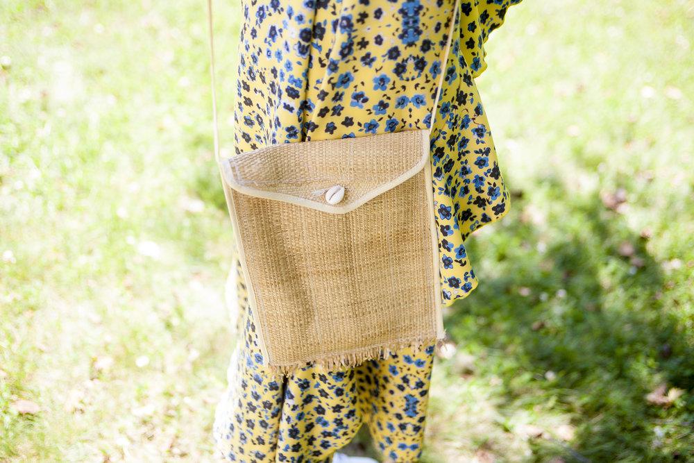 Teddy Ondo Ella Crossbody Straw Bag