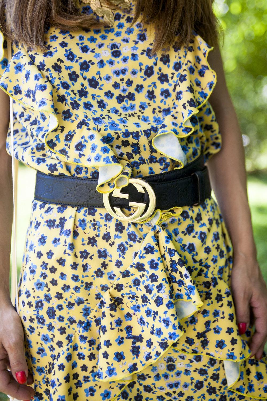 Gwen Salakaia Yellow Floral Print Sundress