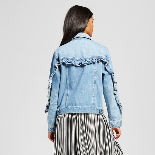 Who What Wear Women's Light Wash Denim Jacket
