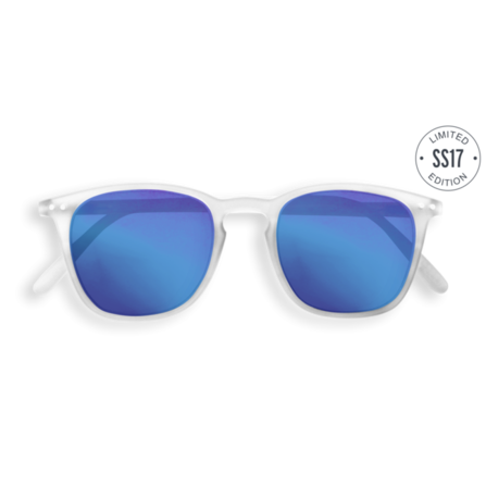 Izipizi Sun White with Blue Mirrored Lenses