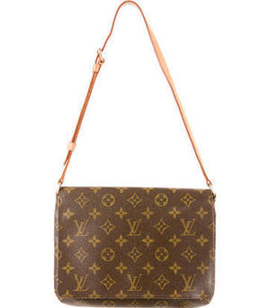 Louis Vuitton Brown Musette Tango Bag