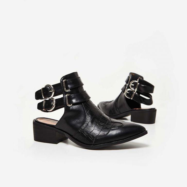 Ego Nash Backless Ankle Boots