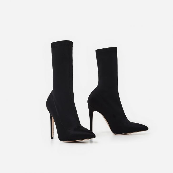 Ego Tegan Pointed Toe Ankle Boots Black