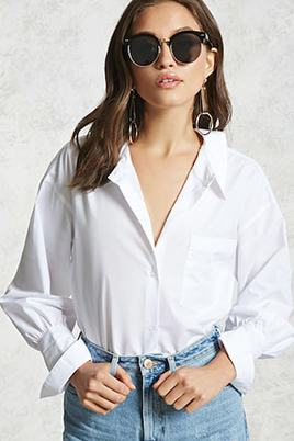 Forever 21 Oversized Cutout Shirt