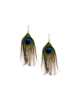Last Call Peacock Earrings