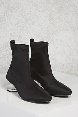 Forever 21 Black Sock Ankle Boots