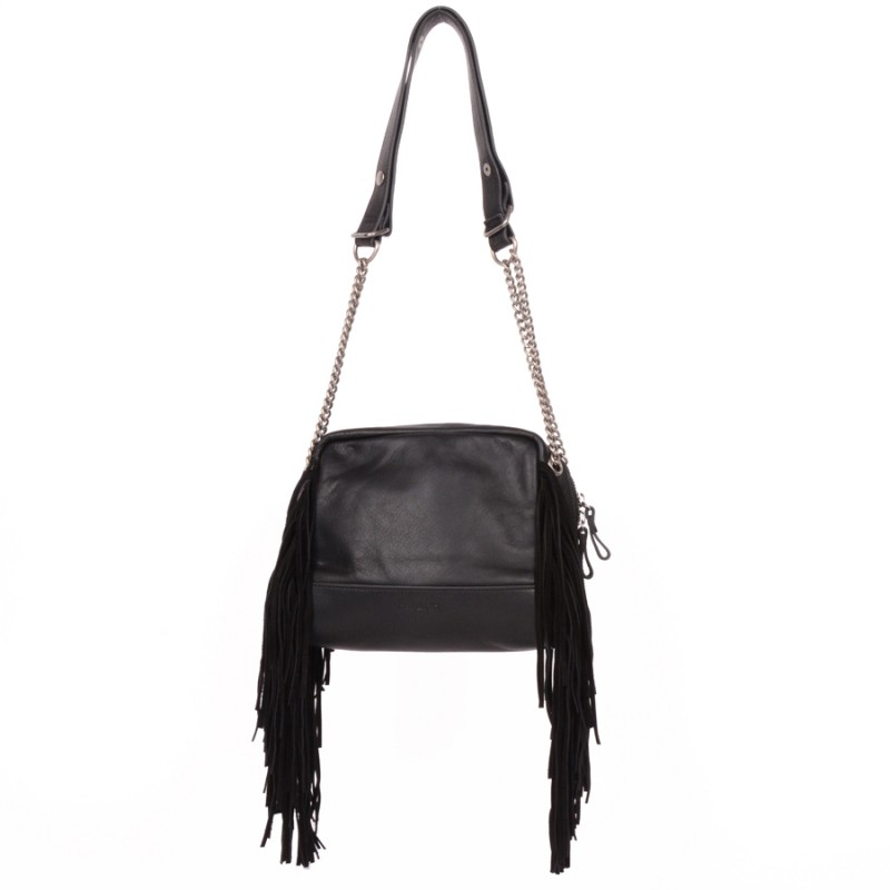 Nat & Nin Giulia Leather Fringe Bag