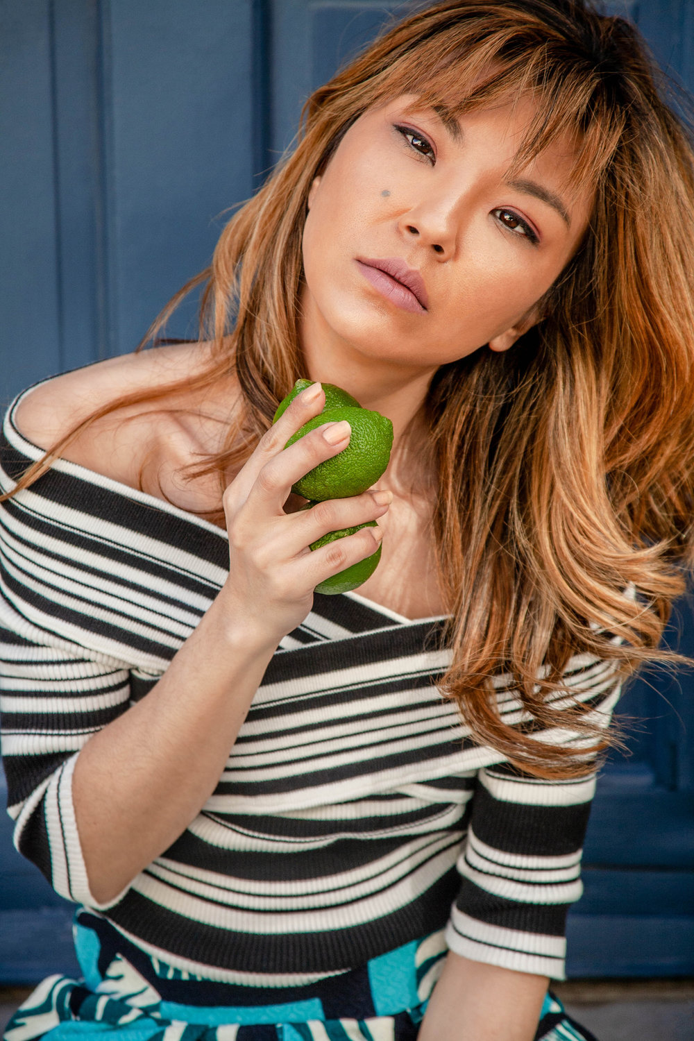 Girl with limes