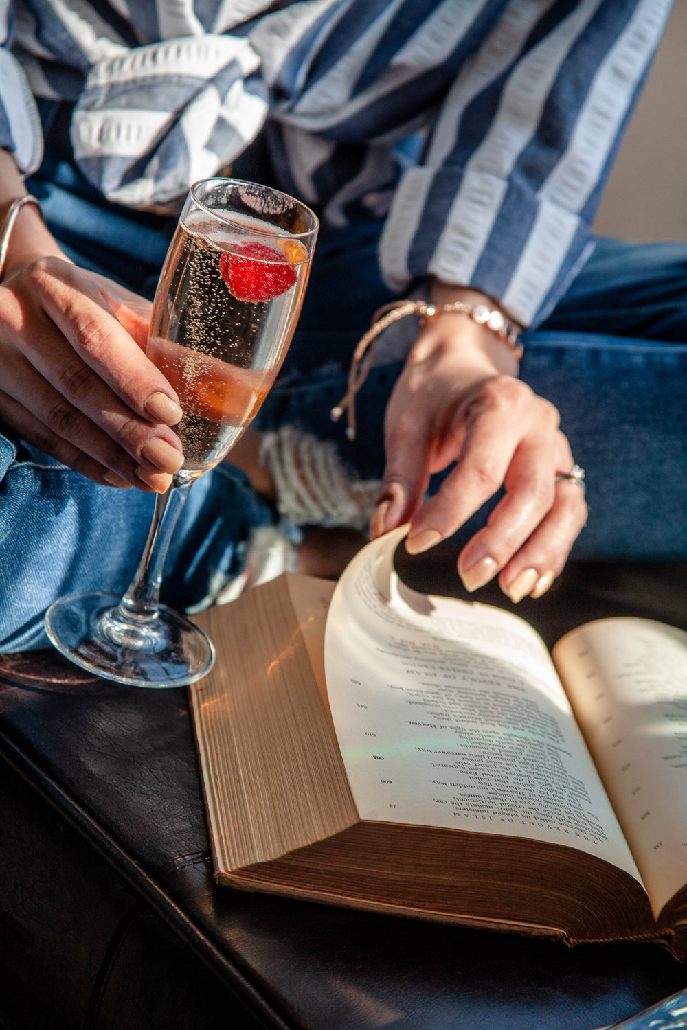 Champagne and books