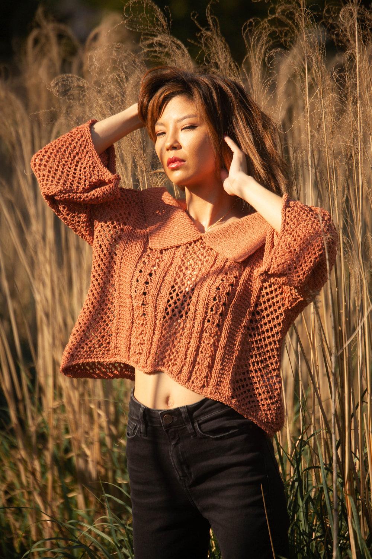 Saku New York knit top